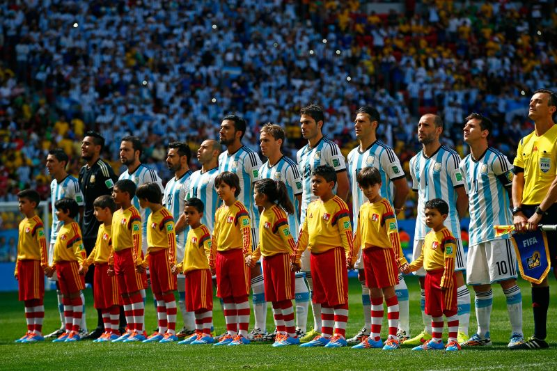 The 4-3-1-2 formation allows Argentina to fully utilise their potential.