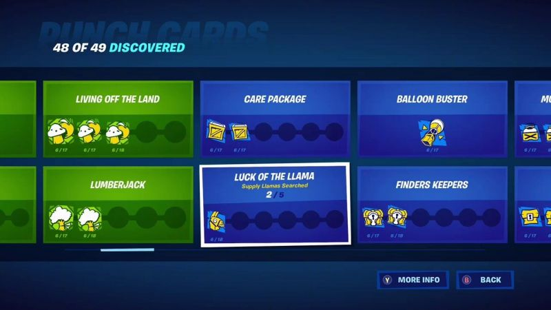 All punch cards in Fortnite Season 3 (Image Credits:hurB)