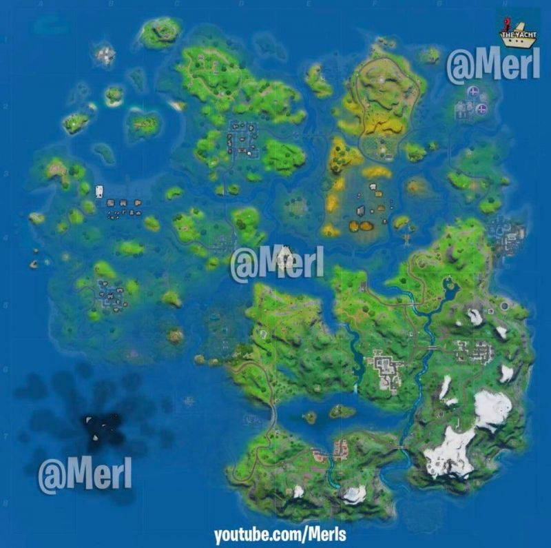 Fortnite Chapter 2, Season 3 map concept. (Image Credits:Merl)