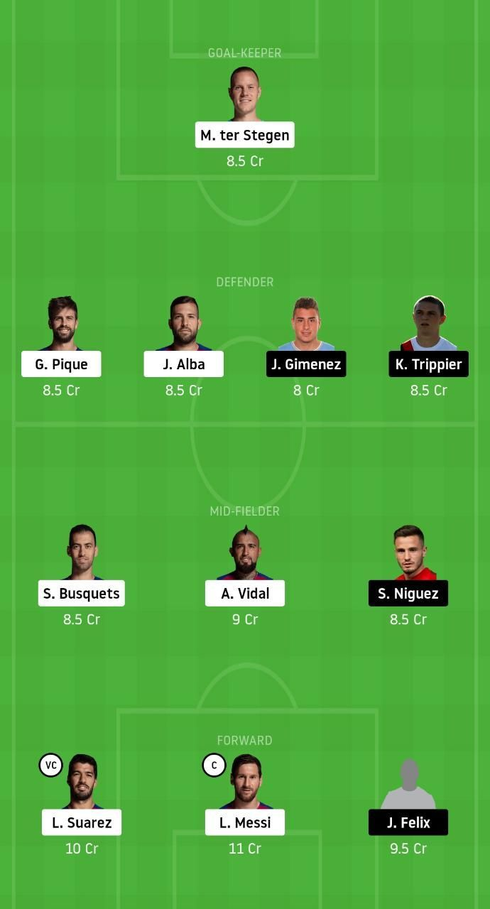 BAR vs ATL Dream11 Fantasy Tips