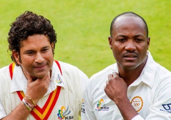 Aaron Finch had useful partnerships with Sachin Tendulkar and Brian Lara on that day
