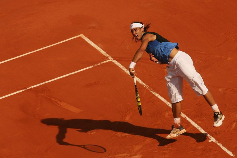 Rafael Nadal during the 2006 French Open