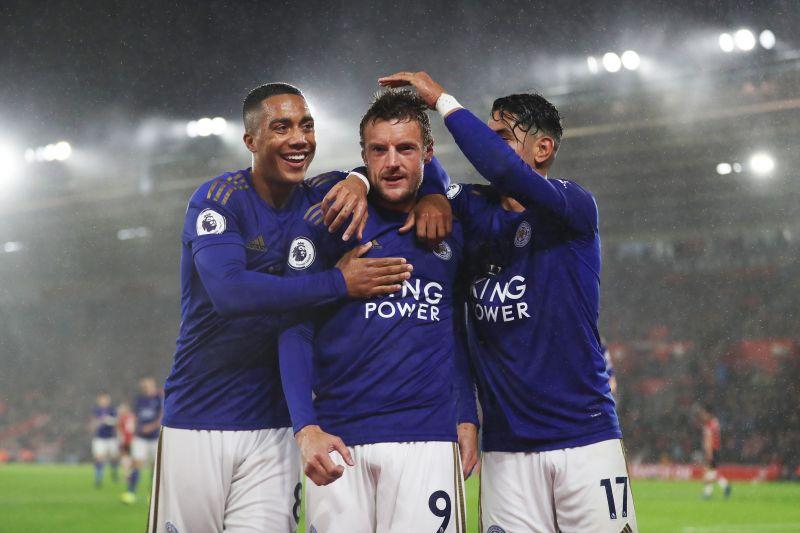 Jamie Vardy and Ayoze Perez have done well alongside midfielder Youri Tielemans