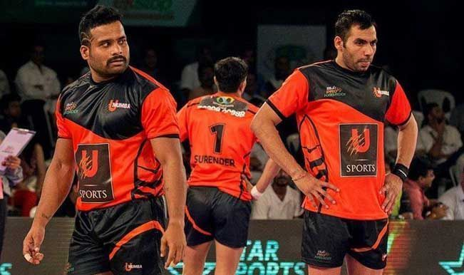 Vishal Mane (left) was able to stand out amidst a star studded U Mumba defence.
