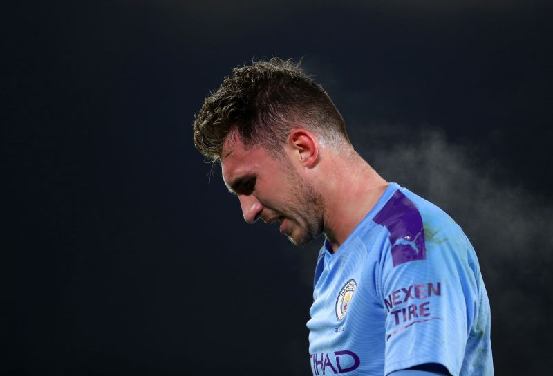 Aymeric Laporte holds Manchester City