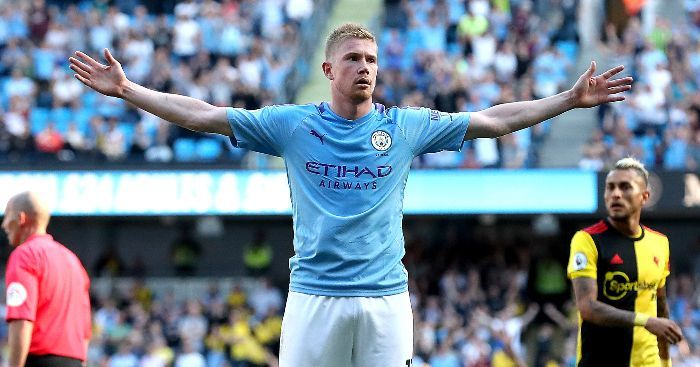 De Bruyne has the most assists this season.