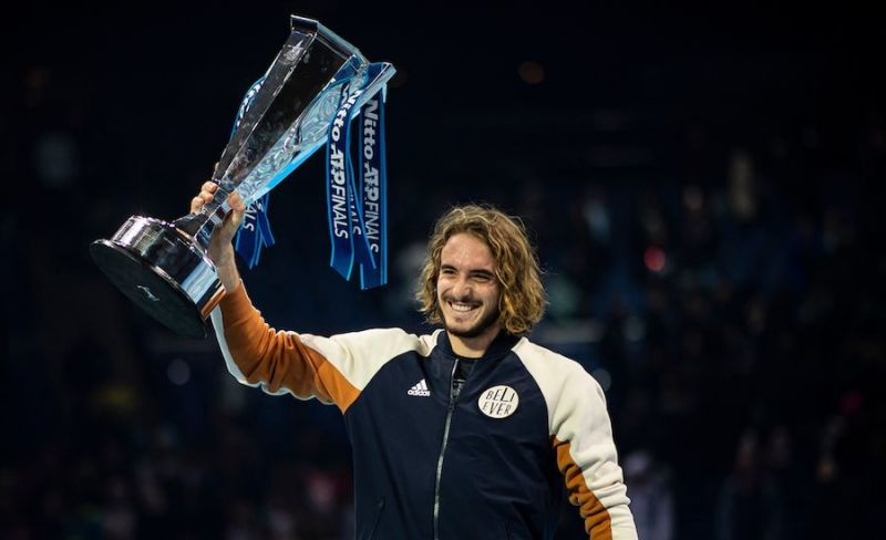 Stefanos Tsitsipas, the winner of the 2020 Nitto ATP Finals