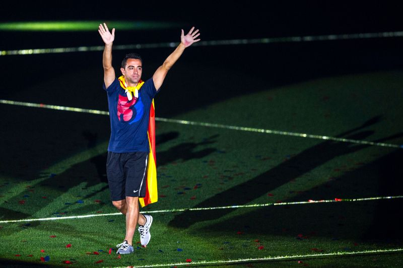 Xavi won a staggering 22 trophies with Barcelona