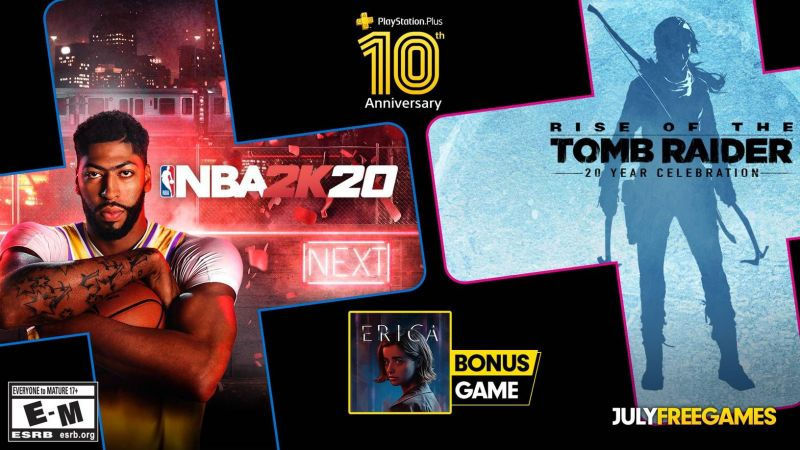 PS Plus free games in July 2020