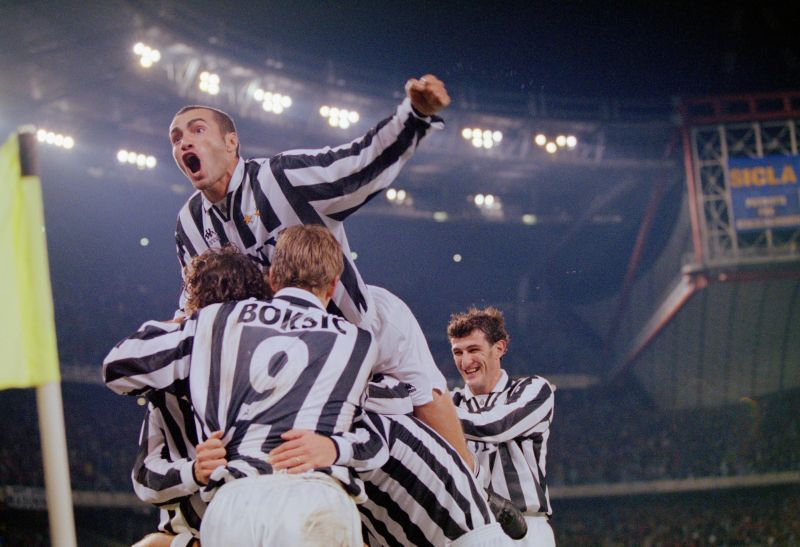 The famous black and white stripes of Juventus