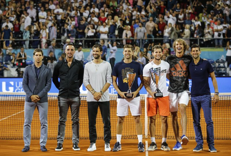 Novak Djokovic invited thousands of fans to the Adria Tour