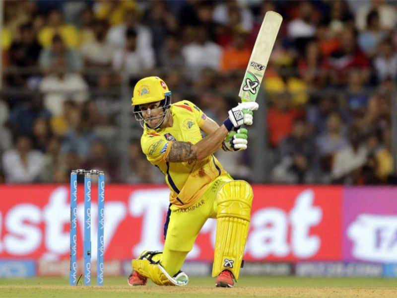 Faf du Plessis in action for CSK