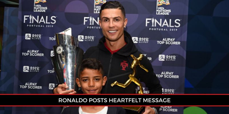 Cristiano Ronaldo once again took to social media to show his love for his son