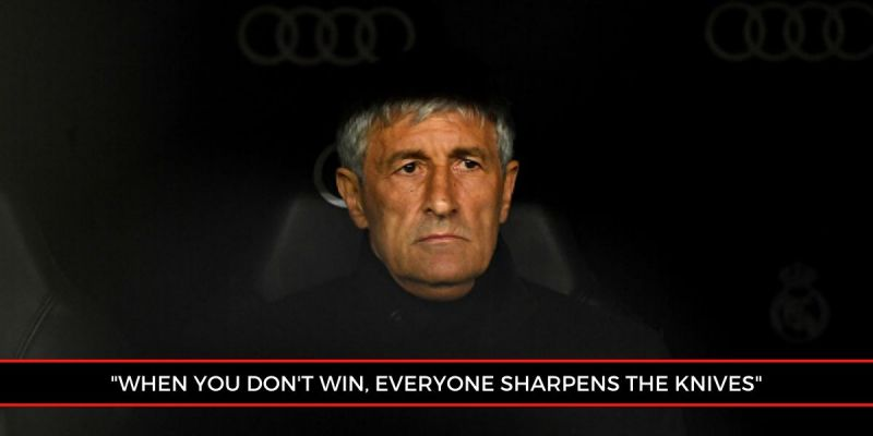 Barcelona manager Quique Setien has come under immense scrutiny in recent weeks