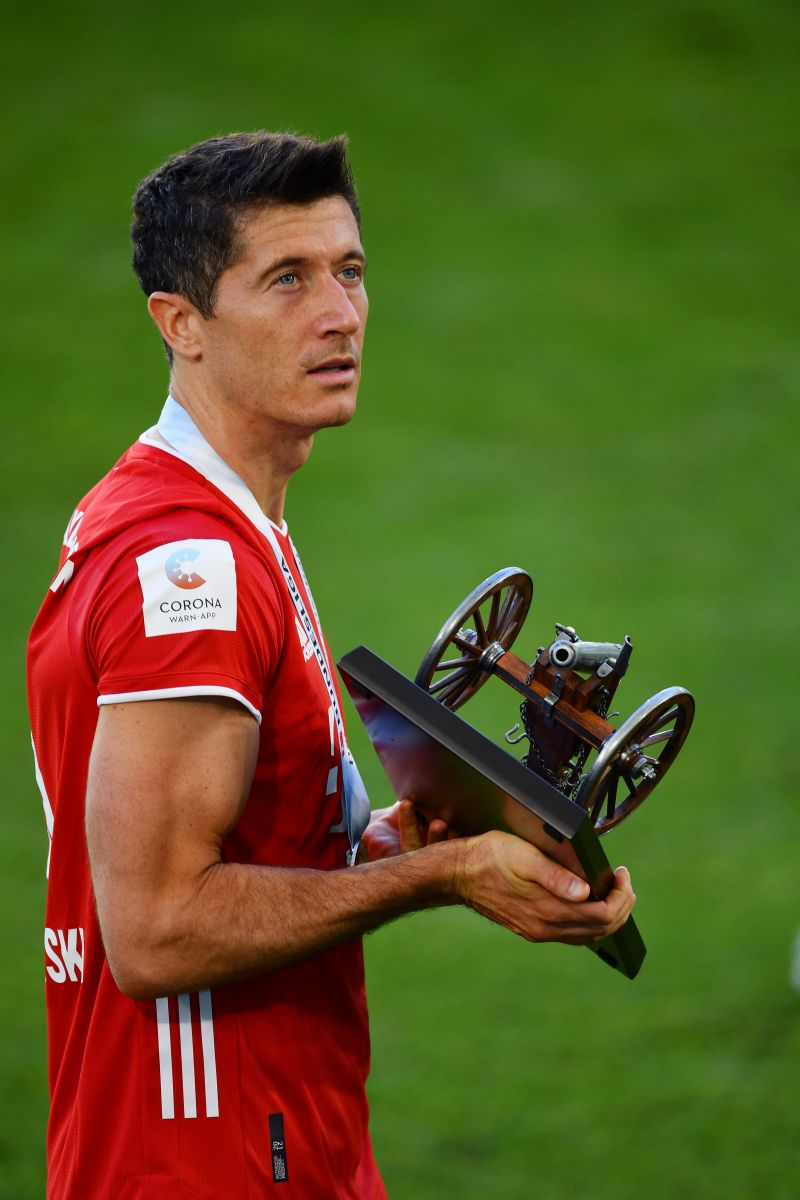 Lewandowski won his third consecutive Bundesliga Golden Boot and his fifth overall.