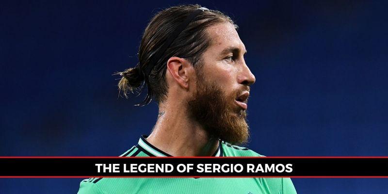 Sergio Ramos of Real Madrid CF looks on during the Liga match against RCD Espanyol