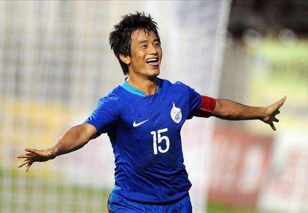 Bhaichung Bhutia as captain of the Indian team.