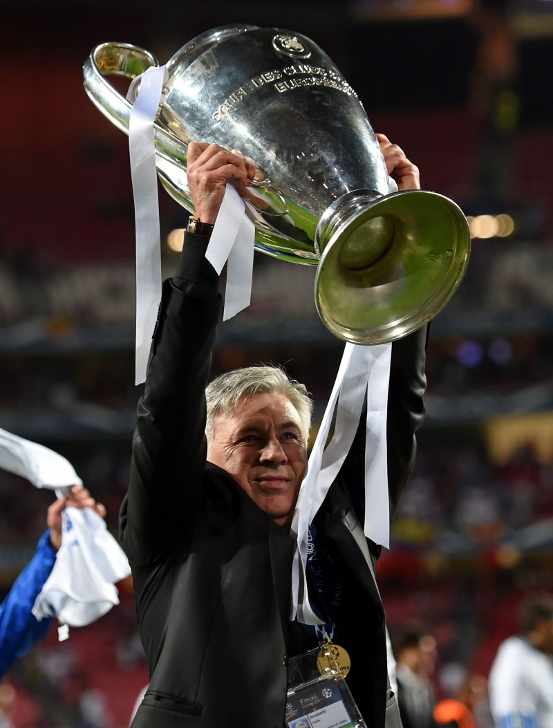 Carlo Ancelotti won the 2014 Champions League title with Real Madrid.