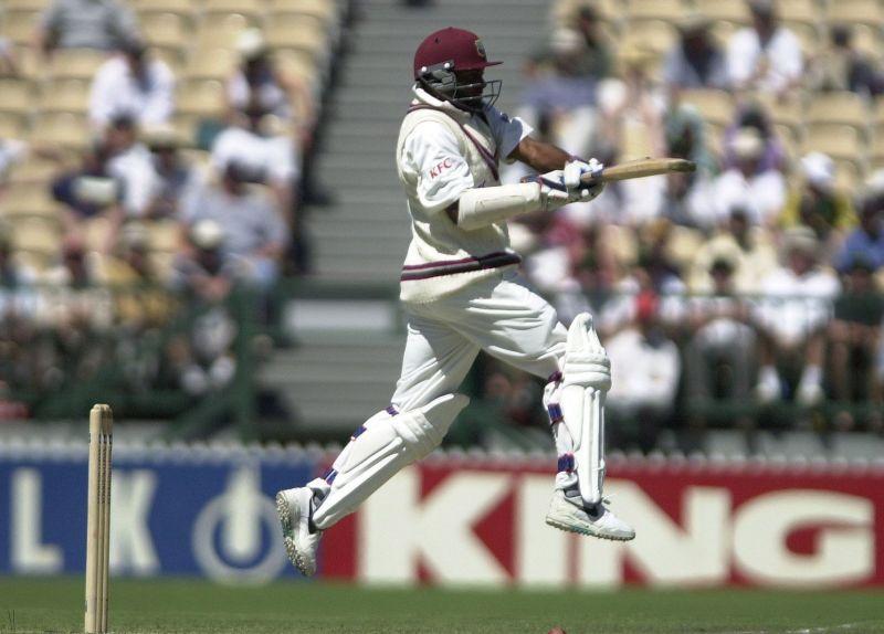 Brian Lara in action against Australia