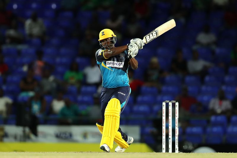 Johnson Charles in action for Barbados Tridents in the CPL