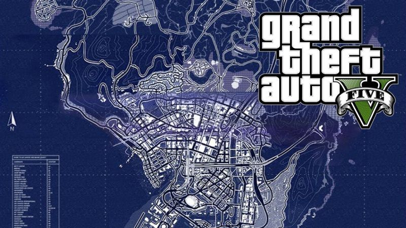 Maps of GTA 5 (Image: YouTube)