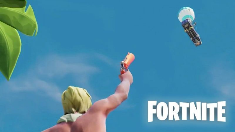 The flare gun was first seen in a trailer for Fortnite in early 2019