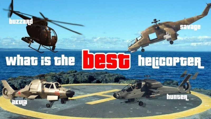 Helicopters in GTA Online (Image Courtesy: YouTube)