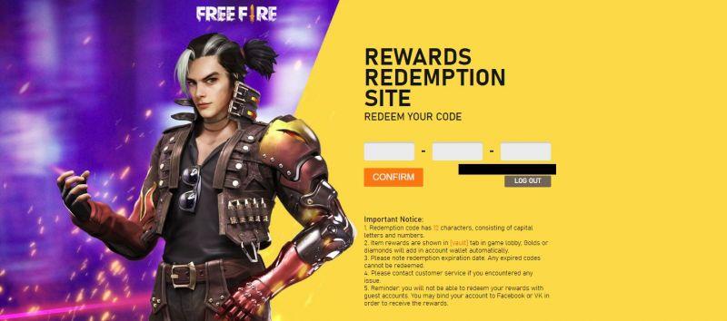 Reward Redemption site