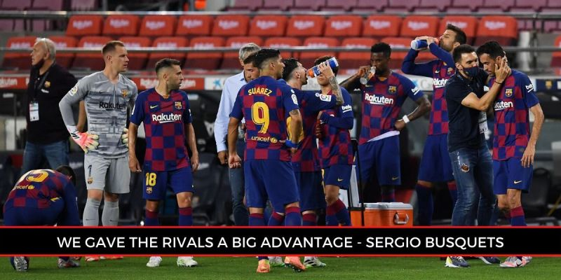 Sergio Busquets claimed that Barcelona is trying its best