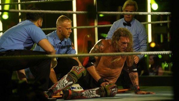 Edge suffered a bad injury at WWE Backlash