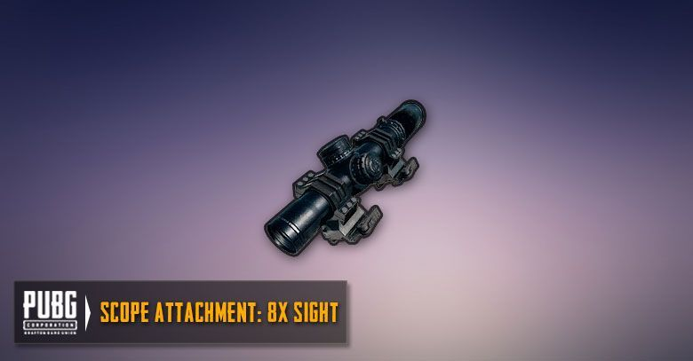 An 8x Scope in PUBG Mobile (Image Credit: Zilliongamer)