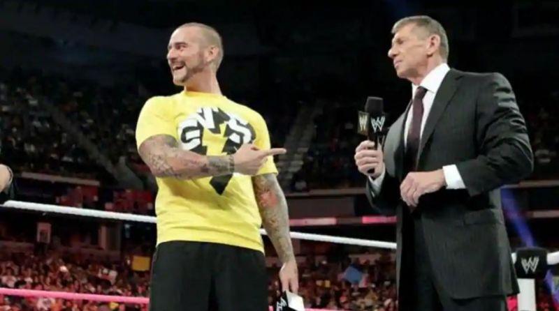 CM Punk y Vince McMahon