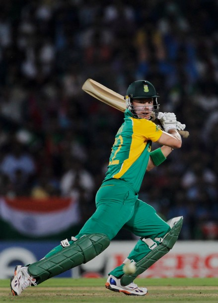NAGPUR, INDIA - MARCH 12:  Johan Botha of South Africa bats during the Group B ICC World Cup Cricket match between India and South Africa at Vidarbha Cricket Association Ground on March 12, 2011 in Nagpur, India.