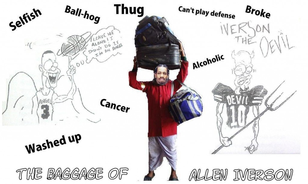 582d8d086b42 The baggage of Allen Iverson  Both sides of his issues