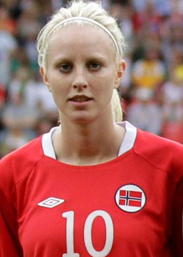 Cecilie Pedersen is a Norwegian footballer from Førde in Sveio. She is one of the highest-paid women footballers in the country. In June 2009 she was called up to the national team for the European Championships, and in the second game, against Iceland, she was the match winner with her goal before the break.  She is the winner of Gullballen, the most prestigious Norwegian football prize.