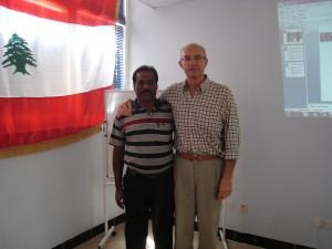 Mr. Danapal with Mr.Kotlaba, Instructor at FIBA Commissioners exam at Erbil, Iraq
