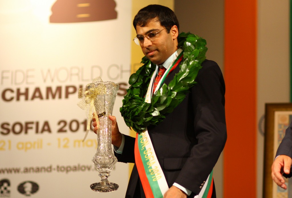 Viswanathan Anand retained his Title in 2010 against Topalov