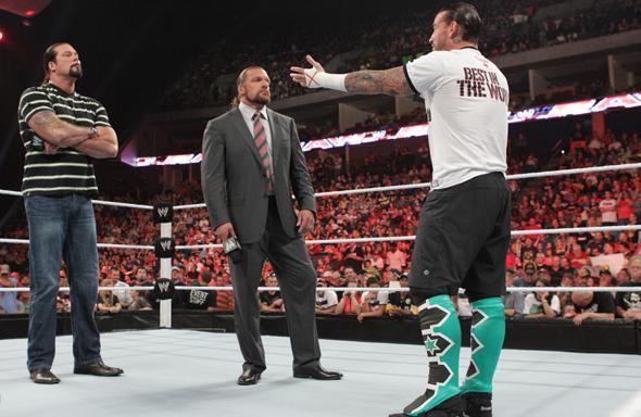The interaction between Kevin Nash, Triple H and CM Punk