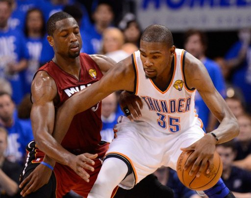 1a8f36131dd Thunder rally to beat Heat in NBA finals opener