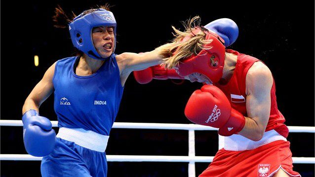 Olympic Boxing Mary Kom Creates History Guarantees Th Medal For - Olympic boxing schedule