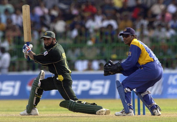 COLOMBO - SEPTEMBER 12:  Saeed Anwar of Pakistan hits out during the Sri Lanka v Pakistan opening ma