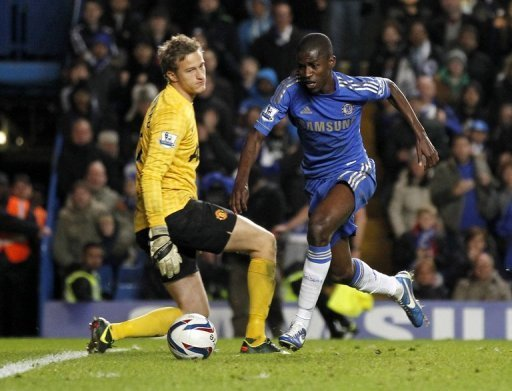 Ramires made the game safe four minutes from the end, rounding Lindegaard, and slipping the ball into the net