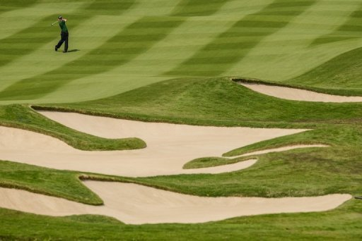 An eagle on the par-five seventh sparked a blazing run from the 2010 British Open winner today