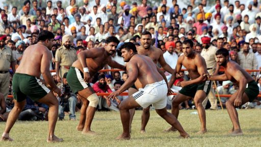 In Kabbadi, players try to tag opponents while holding their breath