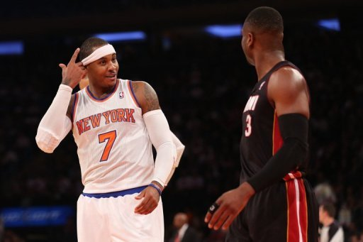Carmelo Anthony scored 30 points and the New York Knicks beat reigning NBA champion Miami 104-84