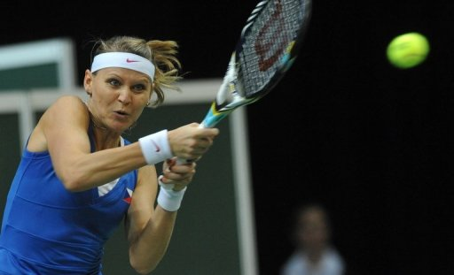 Lucie Safarova (pictured) needed an hour and 41 minutes to sink Ana Ivanovic