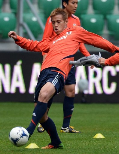 Keisuke Honda is one of 13 Europe based players in the Japan squad to face Oman