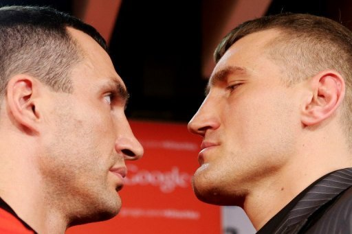 It is the first time in his careeer that Wladimir Klitschko (left) has had to look up at his opponent