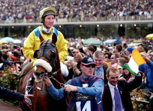 Australia's leading jockey Damien Oliver has won the Melbourne Cup twice