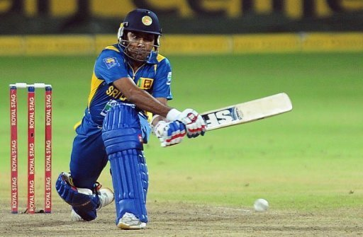 Sri Lanka captain Mahela Jayawardene plays a shot